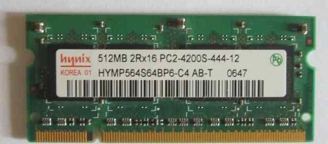 SO-dimm 512mb DDR2 PC4200 Hynix
