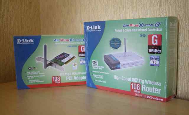D-link air plus extreme G(108Mbps) + PCI Adapter