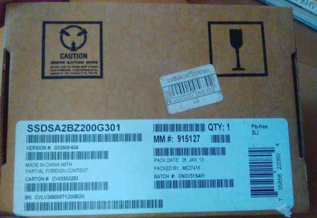 Intel SSDsa2bz200g301 710 series 200gb