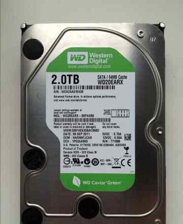 Жесткий диск WD 2TB Sata3 64MB