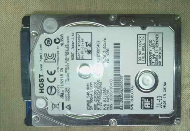 Жесткий диск 2.5 250Gb hitachi новый