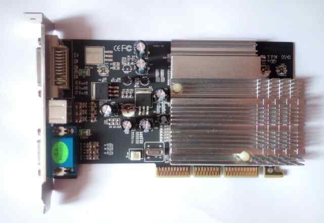 ATI 9250, 128Мб AGP - S-video, DVI, VGA