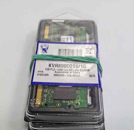 Новая (2х) sodimm Kingston KVR800D2S6/1G