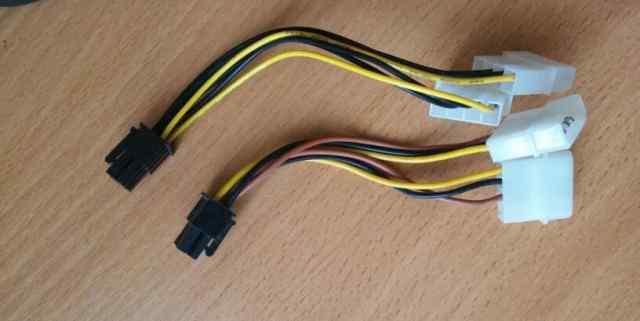 Переходник molex 4pin to 6 pin для подключения вид
