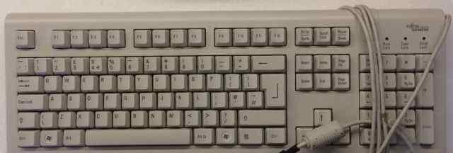 Клавиатура Fujitsu-Siemens USB, литиница, б/у