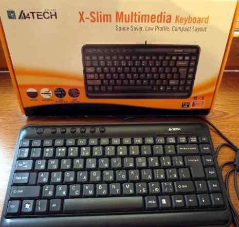 Клавиатура A4 Tech, USB, мини, слим