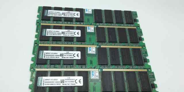 4GB 4x1GB PC3200 DDR400 400MHz 184pin kingston Low