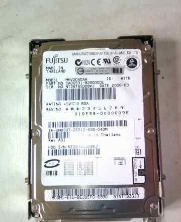 Жесткий диск для ноутбука SATA 60 г