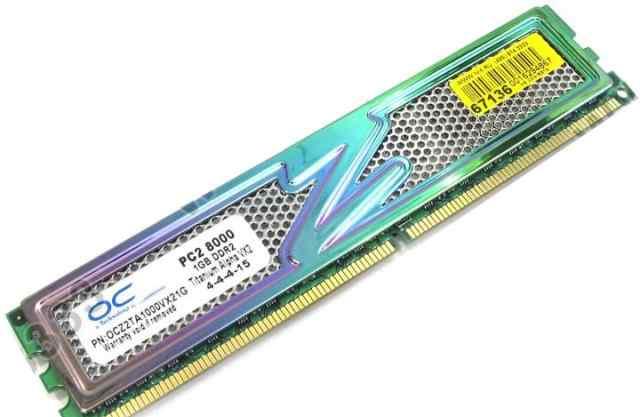 1Гб DDR2 PC2-8000 Titanium Alpha VX2 4-4-4-15