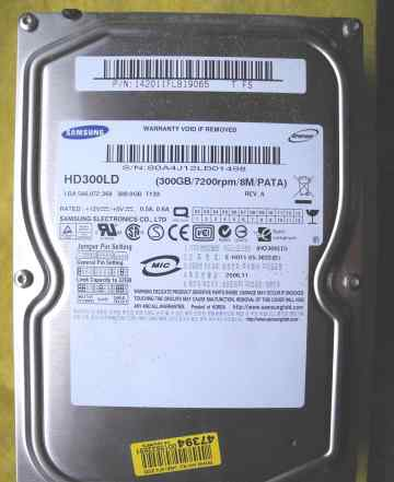 Samsung HD300LD 300Gb/7200prm/8m/PATA