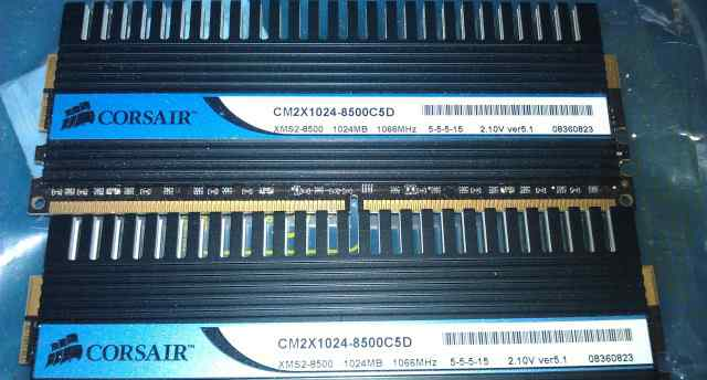 DDR2 2x1Gb Corsair