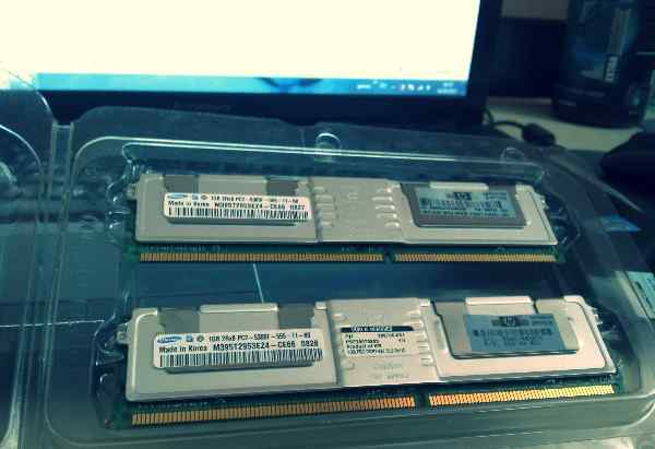 Оперативная память 1gb 2rx8 pc2-5300f-555-11-b0