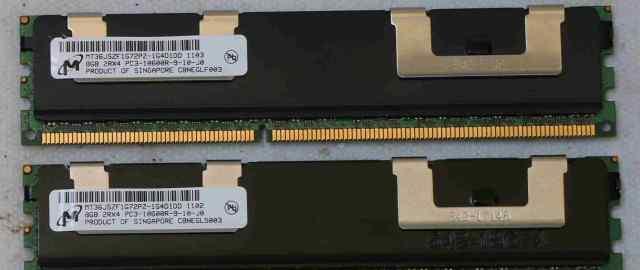 Серверная память 16GB (2x8Gb) Micron DDR3 ECC REG