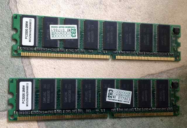 Оперативная память samsung pc3200 512 Мб