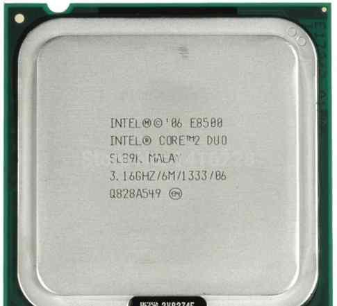 Intel Core 2 Duo E8500 3166 мгц
