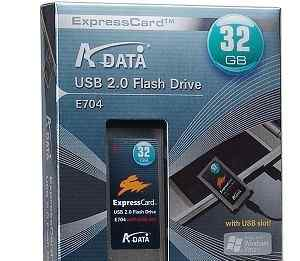 Ssd express card 34-32Gb. A-data