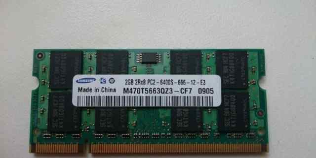 Оперативная память SO-dimm Samsung DDR2 800MHz 2GB