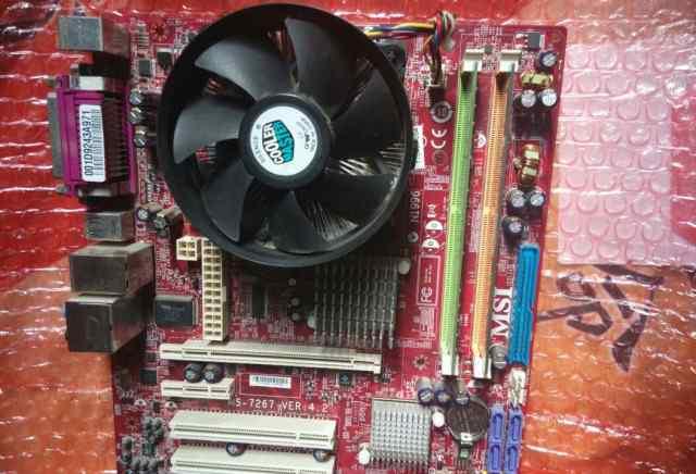 Без корпуса-ms7267, озу2гб, Intel core2duo, nvidia