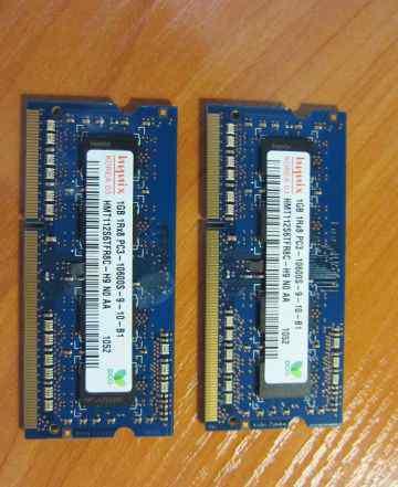 Модуль памяти Hynix DDR3 1333 SO-dimm 1Gb 2шт