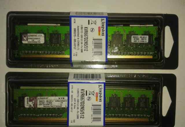 Kingston KVR667D2N5/512 (2 шт. в упаковке)