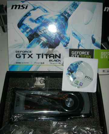 MSI GeForce GTX titan Black 889Mhz PCI-E 3.0 6144M