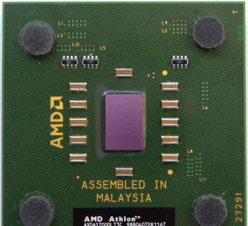 AMD Athlon XP 1700+ Thoroughbred. Зеленоград