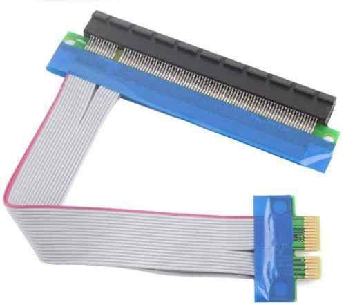 Райзер PCI-E X1 to X16, узкий, без питания