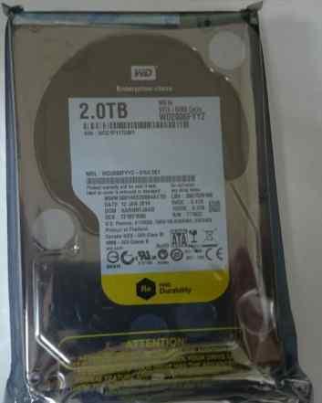HDD 2тб, Western Digital RE, WD2000fyyz (4шт.)
