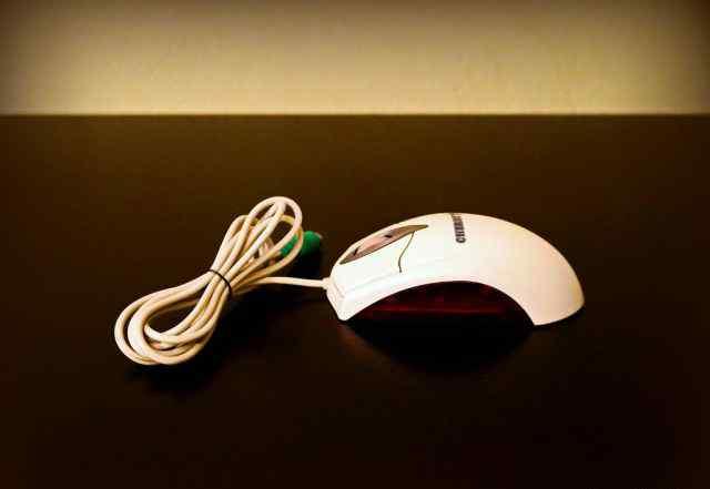 Большая светодиодная мышь PS/2