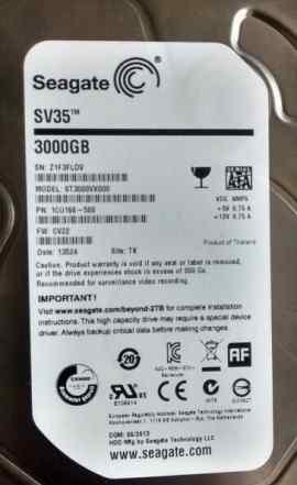 HDD 3 Tb SATA 6Gb / s Seagate SV35
