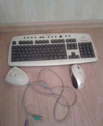 Беспроводная клавиатура и мышь genius