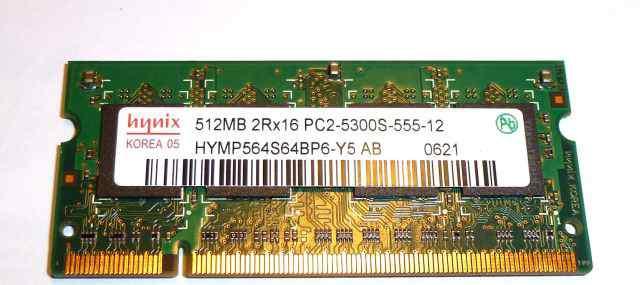 SO-dimm PC2 512Mb 5300S Hynix