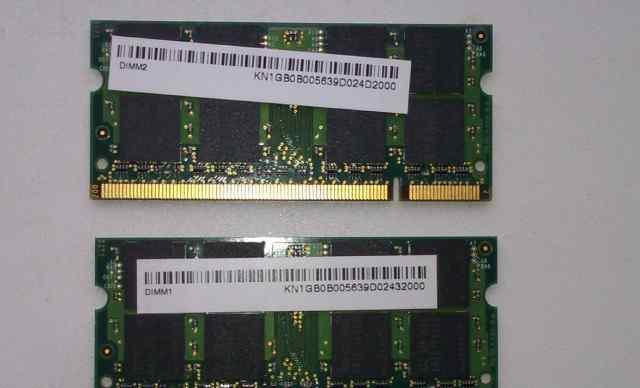 SO dimm 1Gb 2шт DDR2 Оперативная память