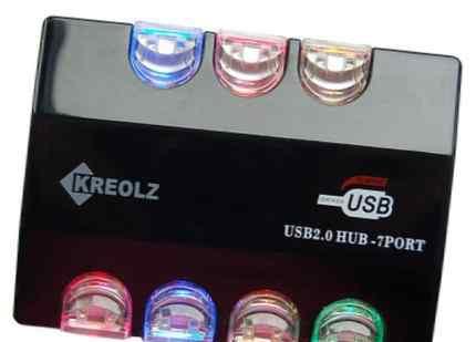 Разветвитель-хаб USB 2.0 7xUSB, питание 220в