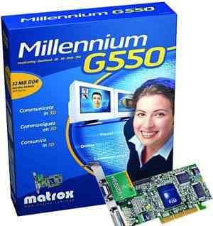Matrox Millenium G550, 32MB DDR, DualHead