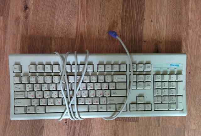 Клавиатура Chicony белая, PS/2, Б/У