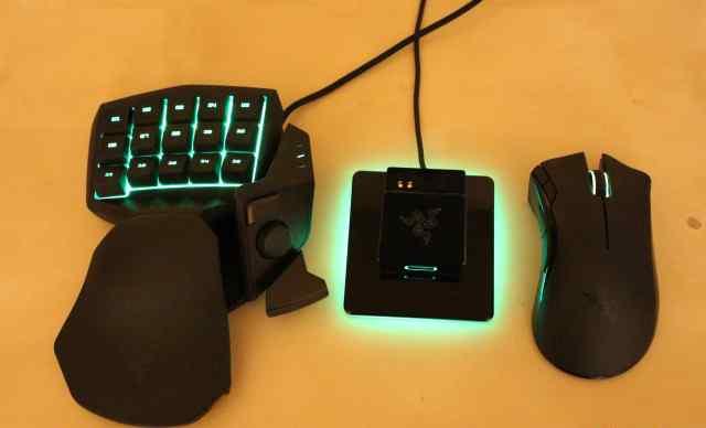 Клавиатуру Razer Tartarus и мышь Razer Mamba