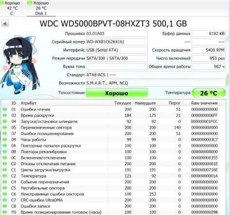 Western Digital WD5000bpvt