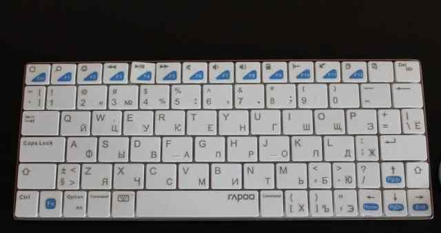 Клавиатура rapoo E6300 white, немного б/у