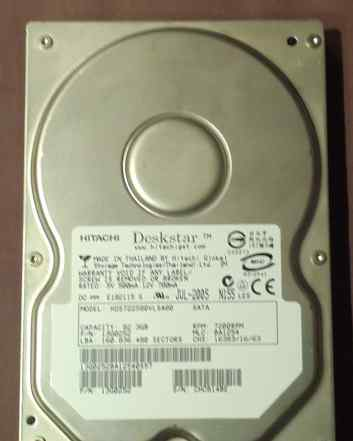 "HDD 3.5"" SATA 80Gb hitachi"
