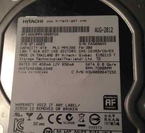 HDD Hitachi 4 Tb