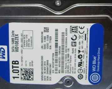 Жёсткий диск 1тб Western Digital Blue WD10ezex