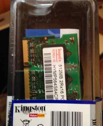 2 планки памяти DDR2 Hynix 512MB 2Rx16