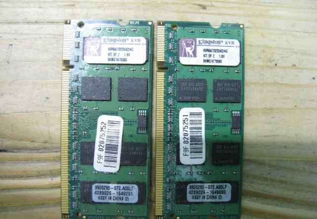Оперативка Kingston DDR2 2штуки по 2гб