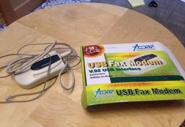 USB fax modem acorp v92