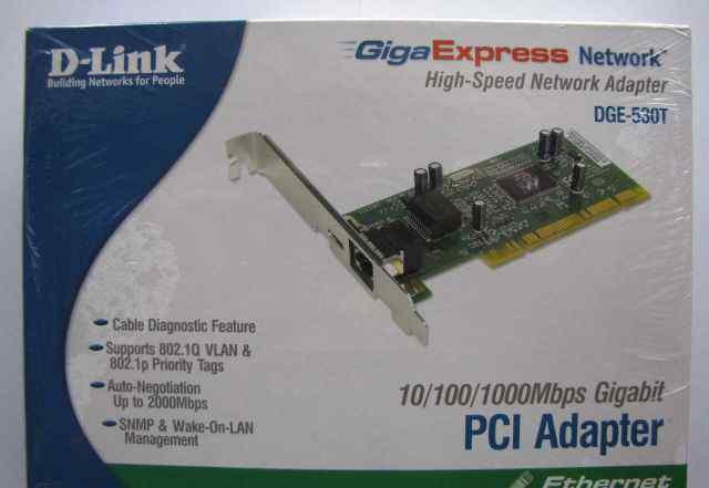 Новый сетевой (LAN) PCI-адаптер D-Link DGE-530T