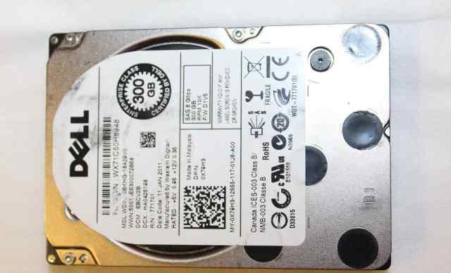 Жесткий диск dell 300Gb SAS 6 Gbps 2.5 дюйма