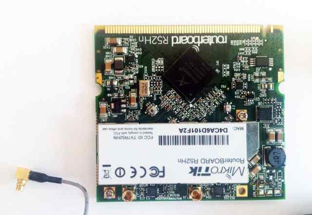 Wi-Fi плата Mikrotik R52Hn с антеннами