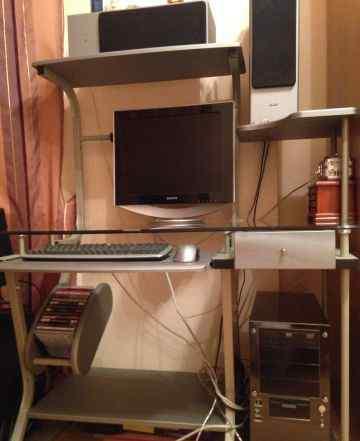 компьютер+ стекл стол