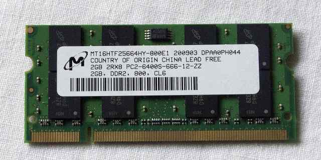 Память для ноутбука DDR2 6400 2 Gb